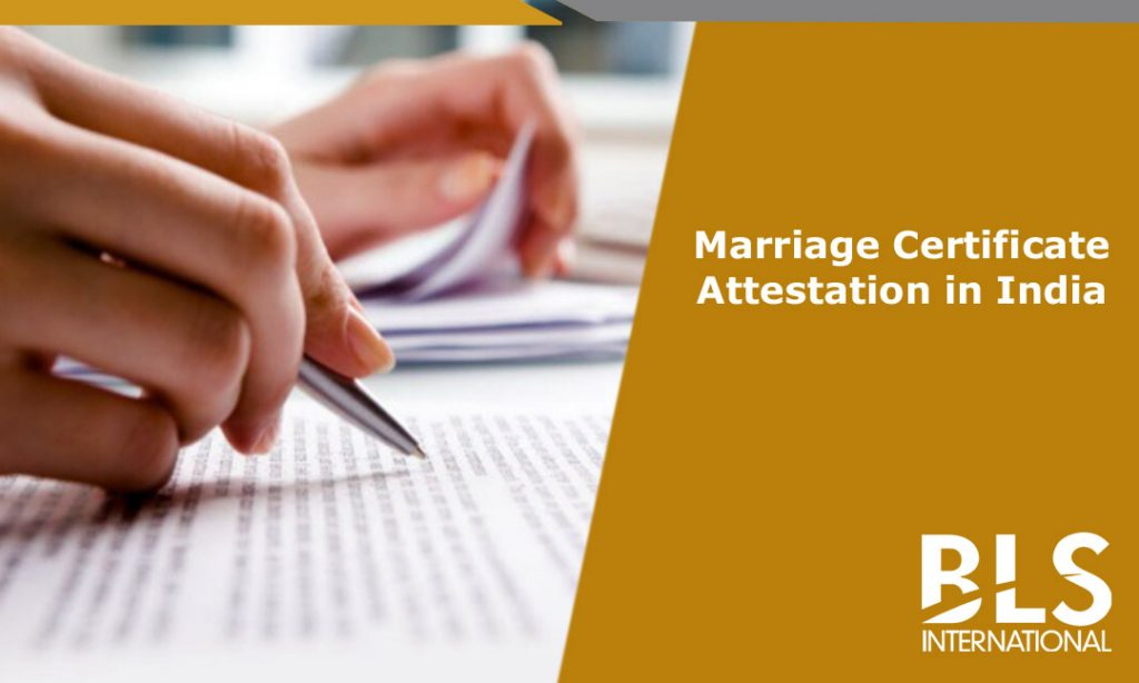 Marriage Certificate Attestation Fees Bls International
