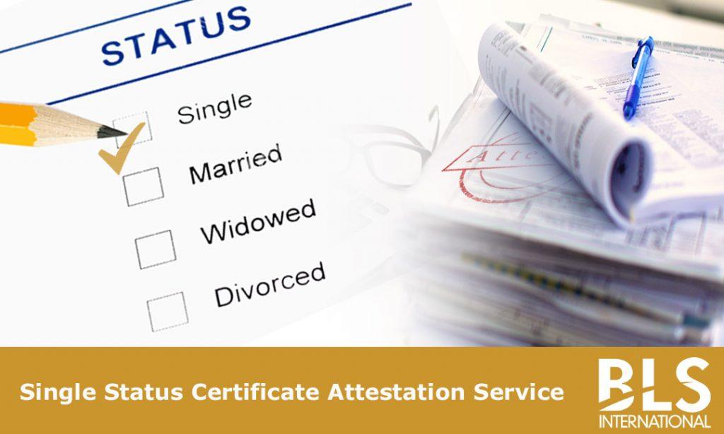 Single Status Certificate | BLS International Attestation Services ...